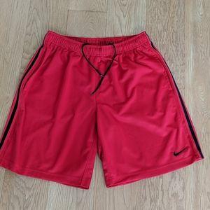 Red Nike Basketball Shorts, Size Large